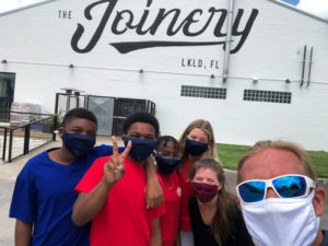 Lunch at the Joinery in Lakeland with Workforce lab students