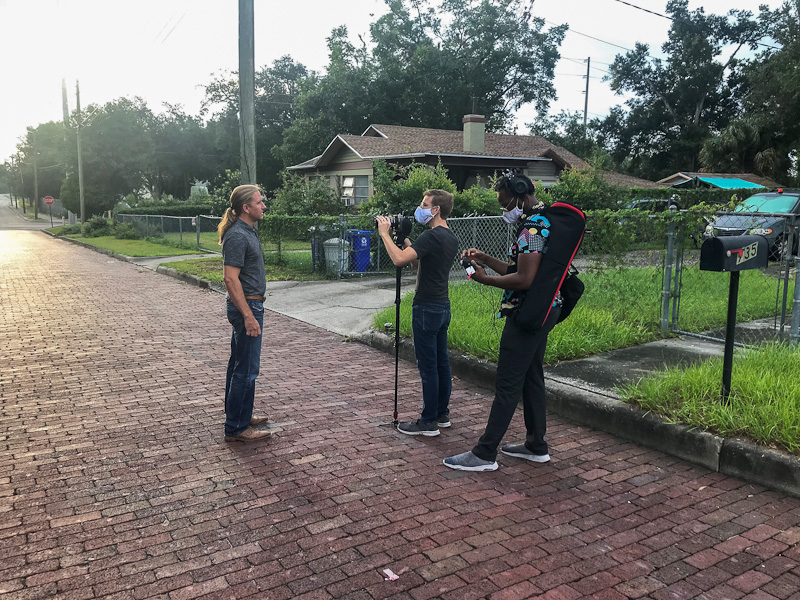 Behind the scenes of filming at Parker Street