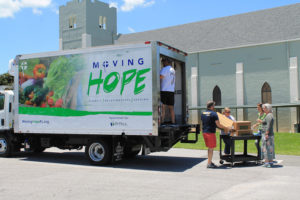 Healthy snacks being donated for kids in the neighborhood and Parker Street Ministries